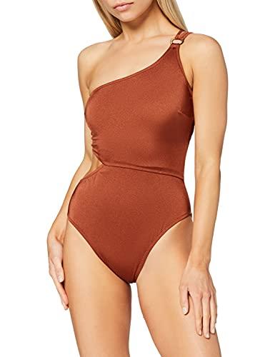 Iris & Lilly Damen One Shoulder Badeanzug, Rot