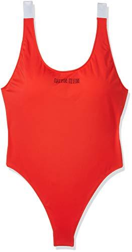 Calvin Klein Damen Badeanzug Scoop ONE, Rot