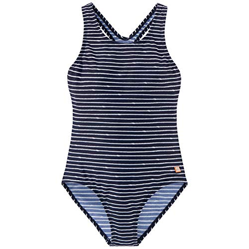 Schiesser Mädchen Badeanzug, Blau