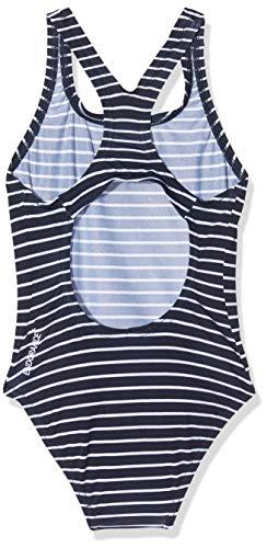 Speedo Mädchen Badeanzug, navyblau/weiß - 2