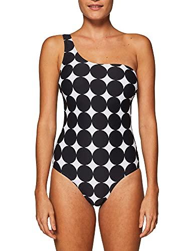 ESPRIT Damen Miami Beach Badeanzug, Schwarz/Weiss
