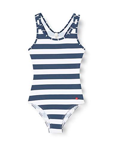 ESPRIT Mädchen North Beach Badeanzug, Blau/Weiss