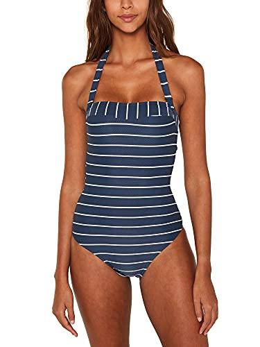ESPRIT Damen Nelly Beach Badeanzug, Blau