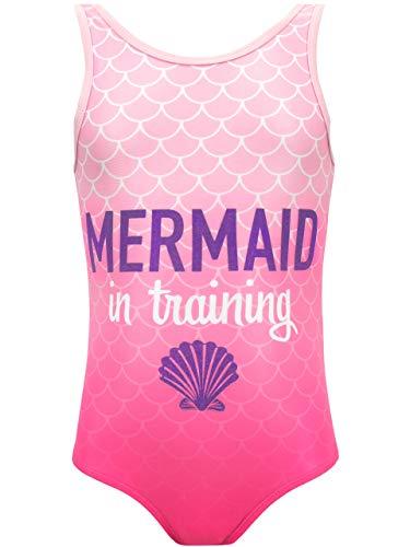 Harry Bear Mädchen Meerjungfrau Badeanzug, Rosa