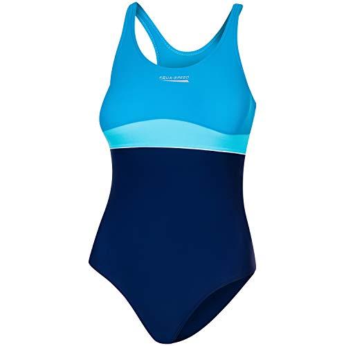 Aqua Speed Badeanzug Mädchen, Blau/Türkis