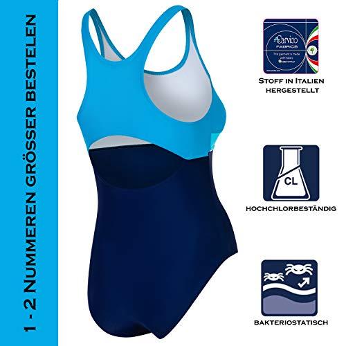 Aqua Speed Badeanzug Mädchen, Blau/Türkis - 3