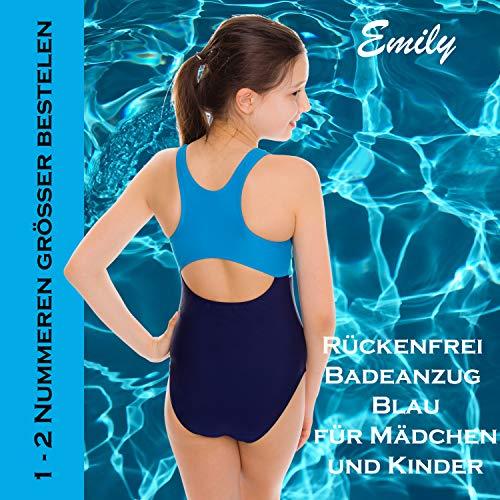 Aqua Speed Badeanzug Mädchen, Blau/Türkis - 6