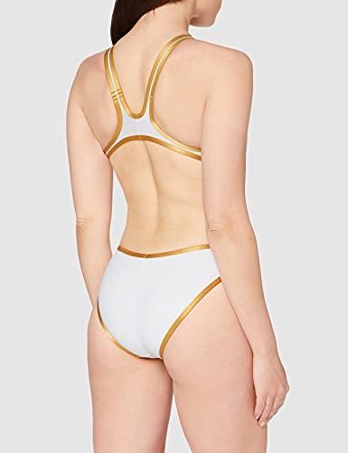 arena Damen Badeanzug, Weiß / Gold - 3