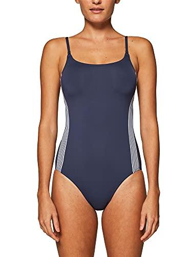 ESPRIT Damen Clearwater Beach Badeanzug, Blau