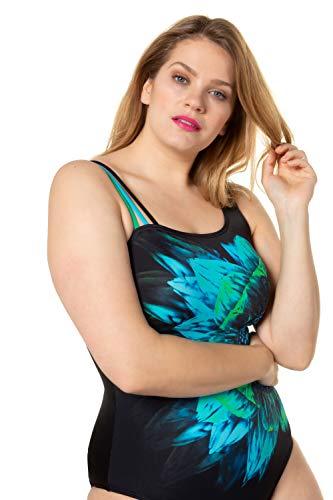 Ulla Popken Damen Badeanzug mit Blume (große Größen) - 5